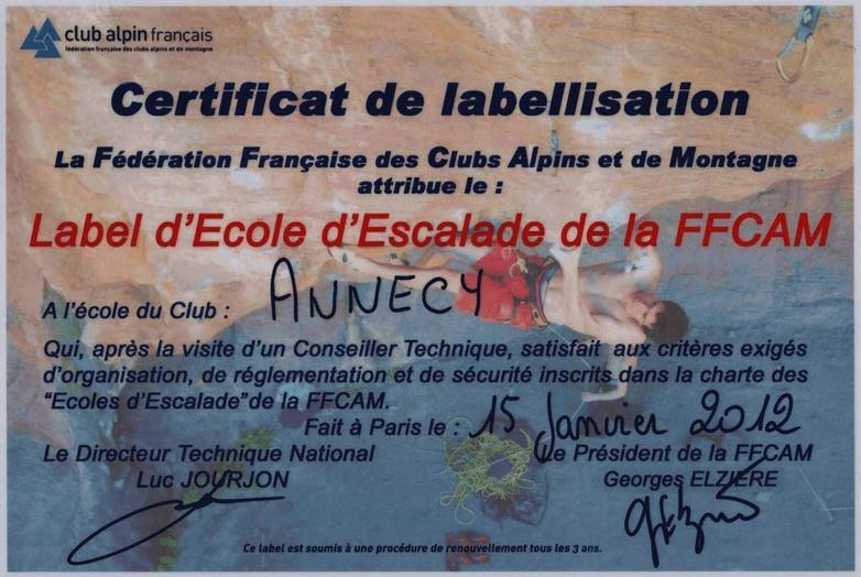 label école escalade
