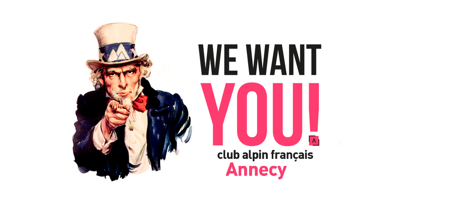 We Want You - Club Alpin Annecy